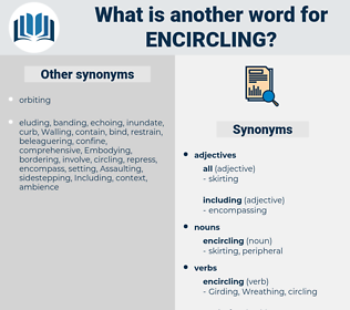 encircling, synonym encircling, another word for encircling, words like encircling, thesaurus encircling