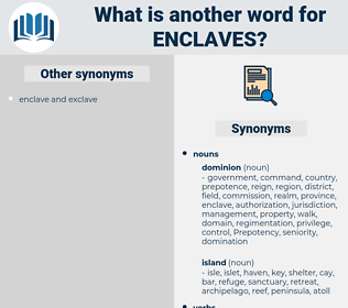 enclaves, synonym enclaves, another word for enclaves, words like enclaves, thesaurus enclaves