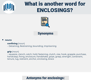 enclosings, synonym enclosings, another word for enclosings, words like enclosings, thesaurus enclosings