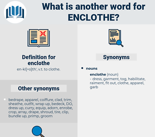 enclothe, synonym enclothe, another word for enclothe, words like enclothe, thesaurus enclothe