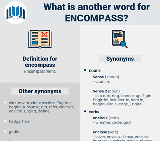encompass, synonym encompass, another word for encompass, words like encompass, thesaurus encompass