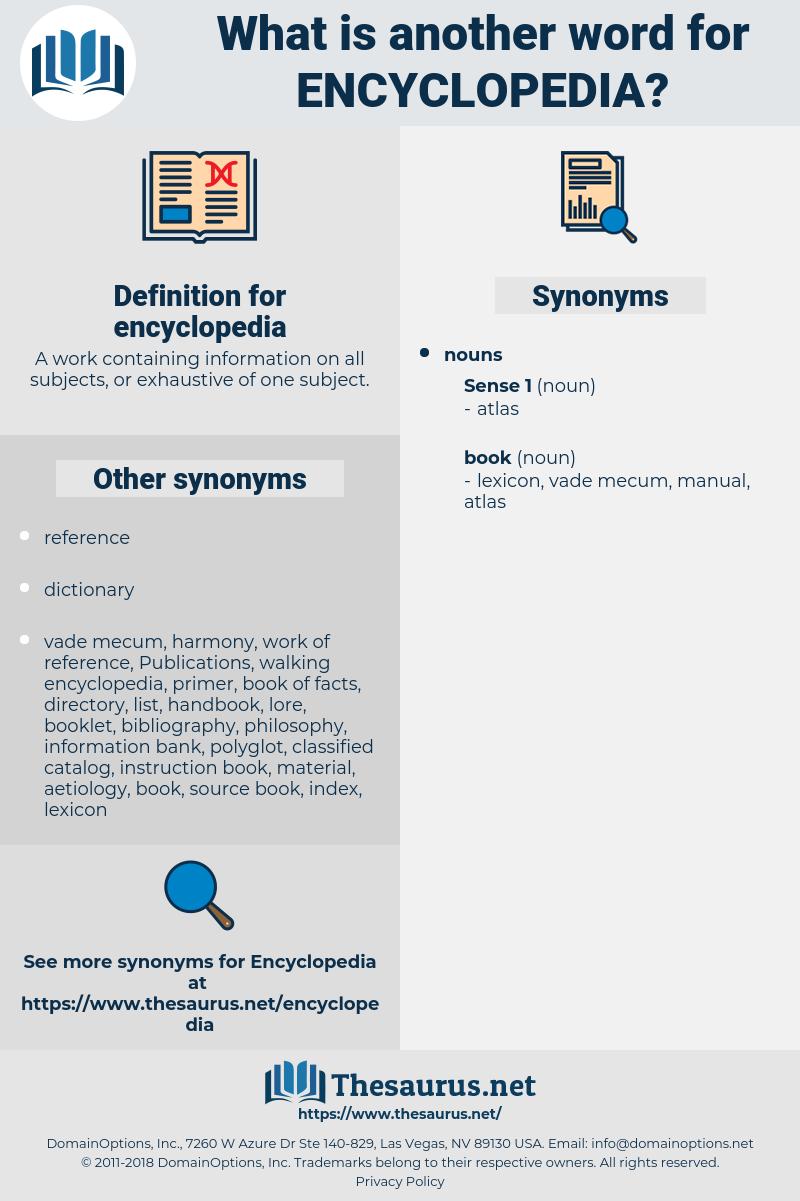encyclopedia, synonym encyclopedia, another word for encyclopedia, words like encyclopedia, thesaurus encyclopedia