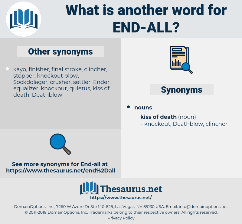 end all, synonym end all, another word for end all, words like end all, thesaurus end all