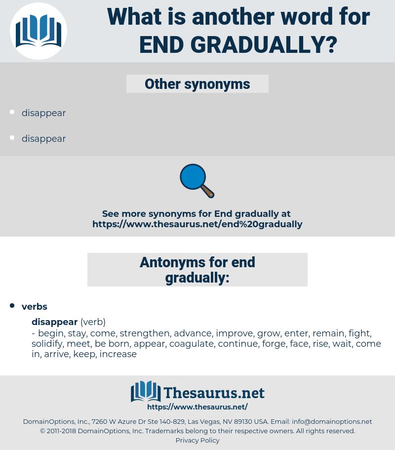 end gradually, synonym end gradually, another word for end gradually, words like end gradually, thesaurus end gradually