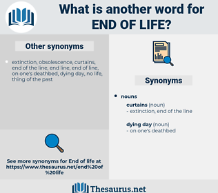 end of life, synonym end of life, another word for end of life, words like end of life, thesaurus end of life
