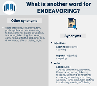 Endeavoring, synonym Endeavoring, another word for Endeavoring, words like Endeavoring, thesaurus Endeavoring