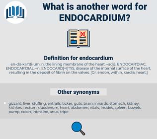 endocardium, synonym endocardium, another word for endocardium, words like endocardium, thesaurus endocardium