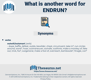 endrun, synonym endrun, another word for endrun, words like endrun, thesaurus endrun
