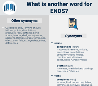ends, synonym ends, another word for ends, words like ends, thesaurus ends
