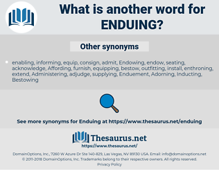 Enduing, synonym Enduing, another word for Enduing, words like Enduing, thesaurus Enduing