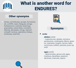 endures, synonym endures, another word for endures, words like endures, thesaurus endures