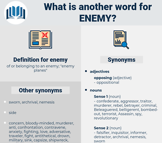 enemy, synonym enemy, another word for enemy, words like enemy, thesaurus enemy