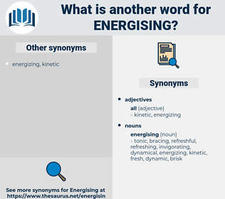 energising, synonym energising, another word for energising, words like energising, thesaurus energising