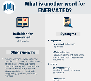 enervated, synonym enervated, another word for enervated, words like enervated, thesaurus enervated