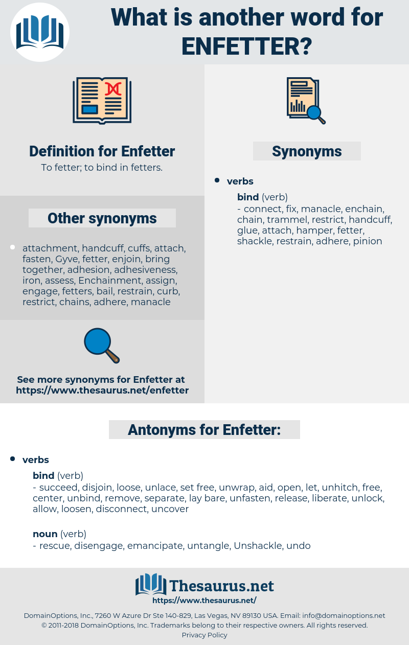 Enfetter, synonym Enfetter, another word for Enfetter, words like Enfetter, thesaurus Enfetter