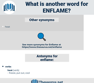 enflame, synonym enflame, another word for enflame, words like enflame, thesaurus enflame