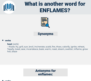 enflames, synonym enflames, another word for enflames, words like enflames, thesaurus enflames