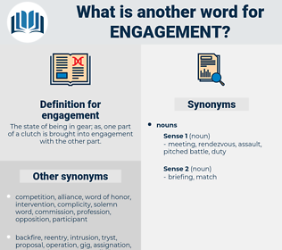 engagement, synonym engagement, another word for engagement, words like engagement, thesaurus engagement