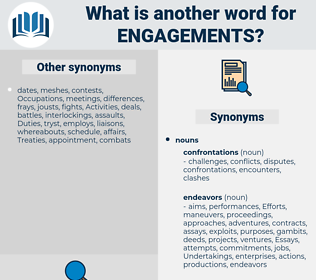 engagements, synonym engagements, another word for engagements, words like engagements, thesaurus engagements