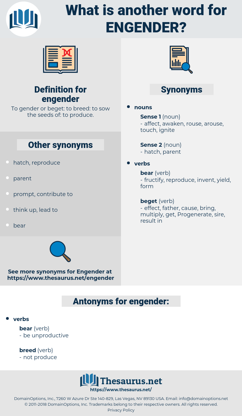 engender, synonym engender, another word for engender, words like engender, thesaurus engender