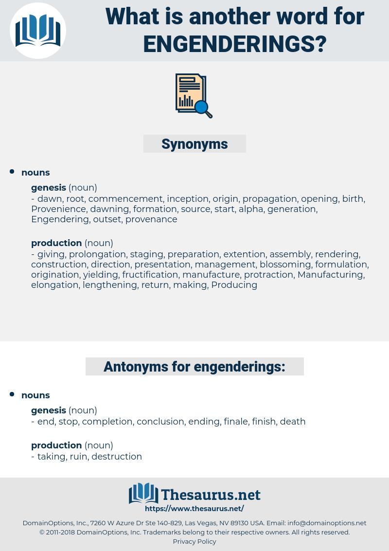 engenderings, synonym engenderings, another word for engenderings, words like engenderings, thesaurus engenderings