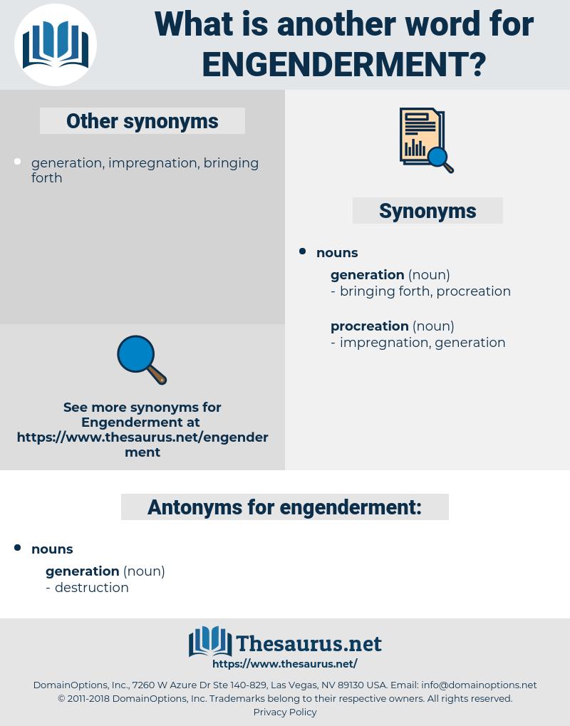 engenderment, synonym engenderment, another word for engenderment, words like engenderment, thesaurus engenderment