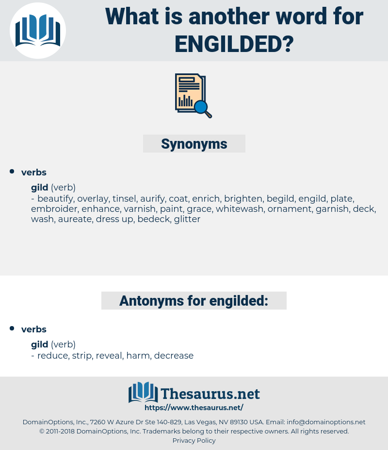 engilded, synonym engilded, another word for engilded, words like engilded, thesaurus engilded