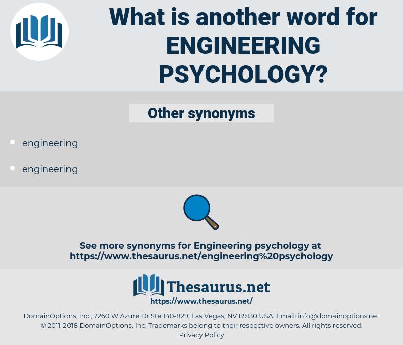Engineering Psychology, synonym Engineering Psychology, another word for Engineering Psychology, words like Engineering Psychology, thesaurus Engineering Psychology