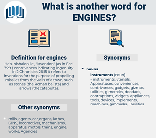 engines, synonym engines, another word for engines, words like engines, thesaurus engines