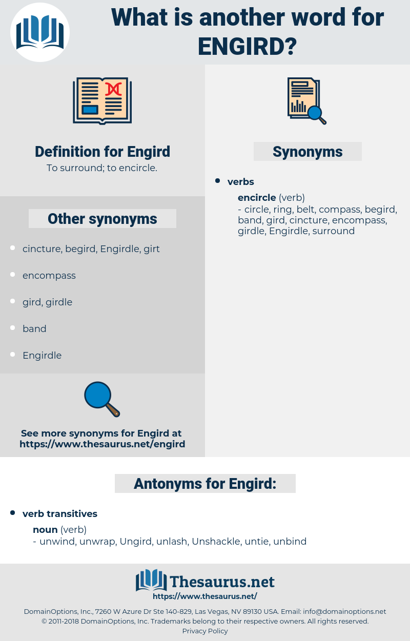 Engird, synonym Engird, another word for Engird, words like Engird, thesaurus Engird