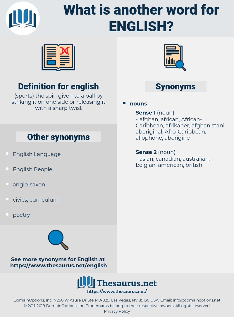 english, synonym english, another word for english, words like english, thesaurus english