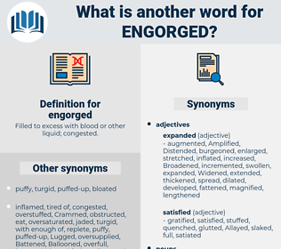 engorged, synonym engorged, another word for engorged, words like engorged, thesaurus engorged