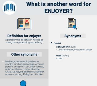 enjoyer, synonym enjoyer, another word for enjoyer, words like enjoyer, thesaurus enjoyer