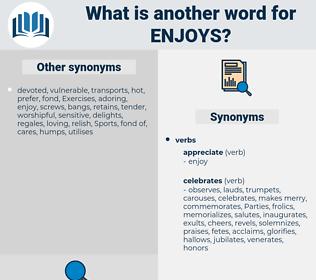 enjoys, synonym enjoys, another word for enjoys, words like enjoys, thesaurus enjoys