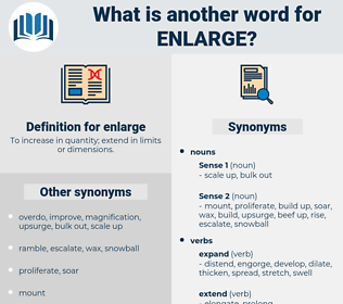 enlarge, synonym enlarge, another word for enlarge, words like enlarge, thesaurus enlarge