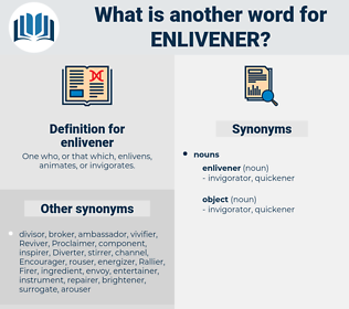 enlivener, synonym enlivener, another word for enlivener, words like enlivener, thesaurus enlivener