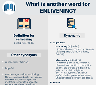 enlivening, synonym enlivening, another word for enlivening, words like enlivening, thesaurus enlivening