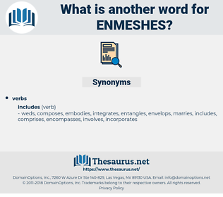 enmeshes, synonym enmeshes, another word for enmeshes, words like enmeshes, thesaurus enmeshes