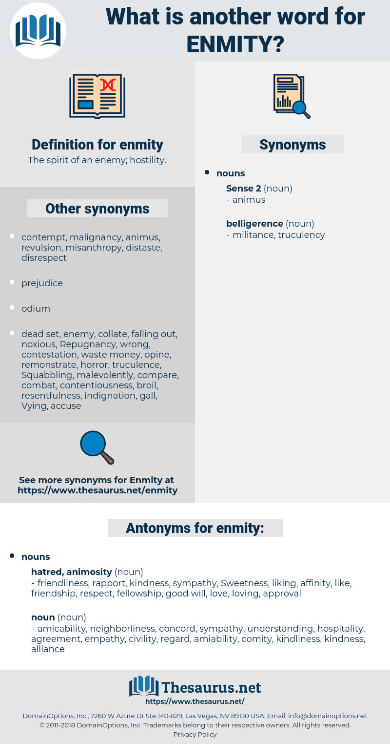 enmity, synonym enmity, another word for enmity, words like enmity, thesaurus enmity
