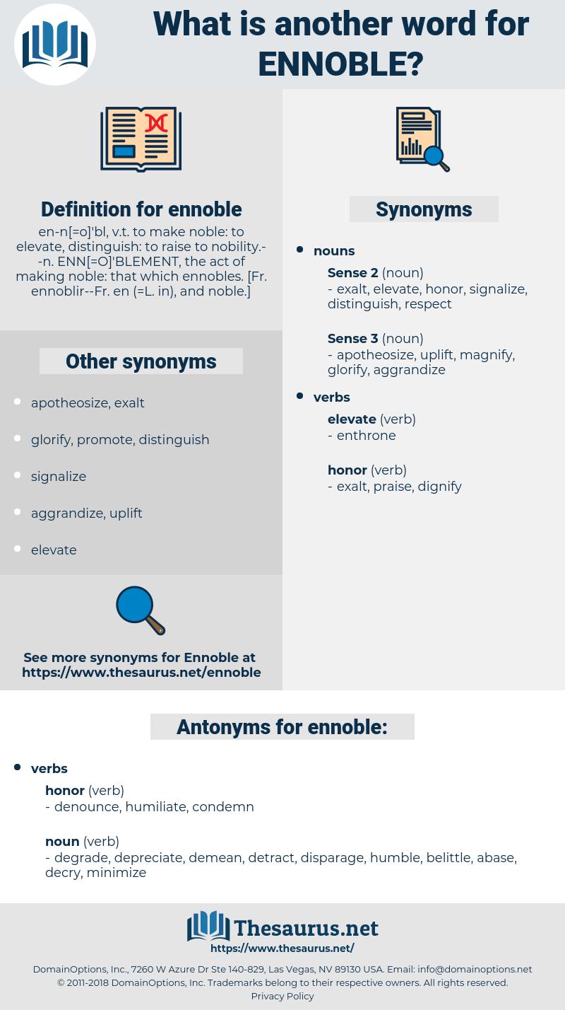 ennoble, synonym ennoble, another word for ennoble, words like ennoble, thesaurus ennoble
