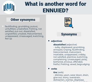 ennuied, synonym ennuied, another word for ennuied, words like ennuied, thesaurus ennuied