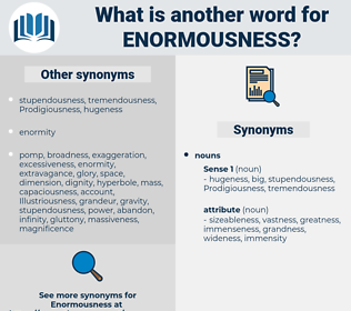 enormousness, synonym enormousness, another word for enormousness, words like enormousness, thesaurus enormousness