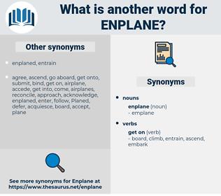 enplane, synonym enplane, another word for enplane, words like enplane, thesaurus enplane