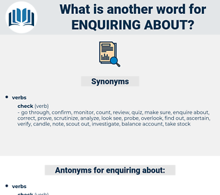 enquiring about, synonym enquiring about, another word for enquiring about, words like enquiring about, thesaurus enquiring about