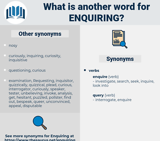enquiring, synonym enquiring, another word for enquiring, words like enquiring, thesaurus enquiring