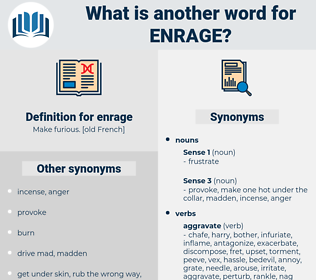 enrage, synonym enrage, another word for enrage, words like enrage, thesaurus enrage