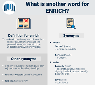 enrich, synonym enrich, another word for enrich, words like enrich, thesaurus enrich