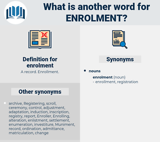 enrolment, synonym enrolment, another word for enrolment, words like enrolment, thesaurus enrolment