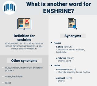 enshrine, synonym enshrine, another word for enshrine, words like enshrine, thesaurus enshrine