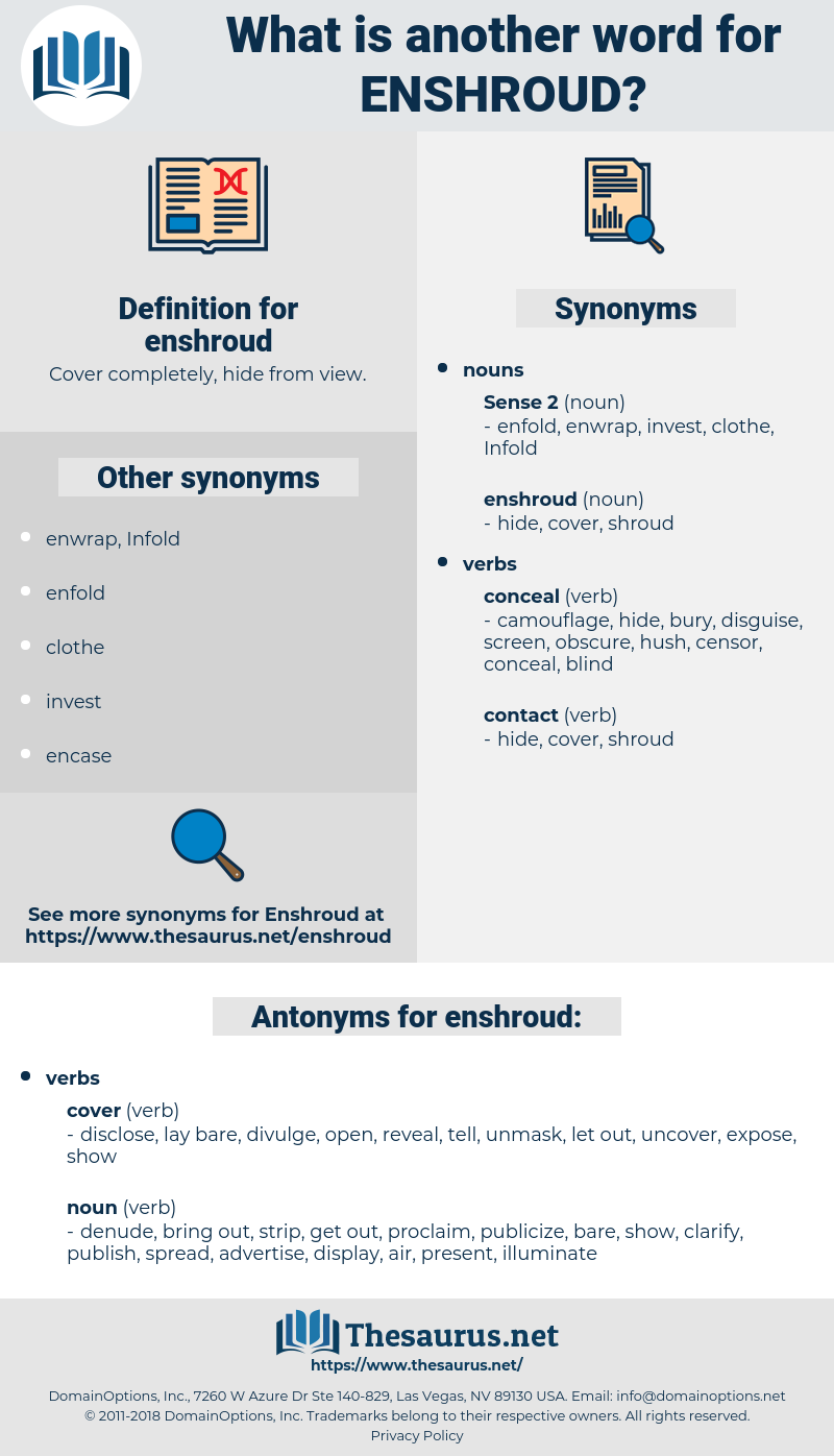 enshroud, synonym enshroud, another word for enshroud, words like enshroud, thesaurus enshroud